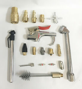 18pc-Air-Tool-Compressor-Blow-Gun-Chuck-Pneumatic-Accessory-Accessories-Kit-NEW