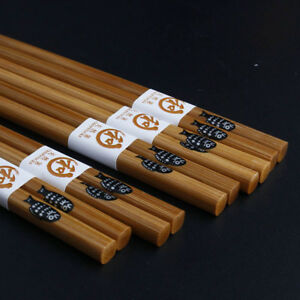 5Pair-Natural-Wooden-Reusable-Chopsticks-Tableware-Flatware-Home-Utensil-W-Case