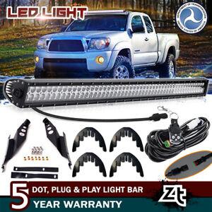 For-2005-2015-Toyota-Tacoma-50-034-LED-Light-Bar-Combo-Upper-Roof-Mount-Brackets