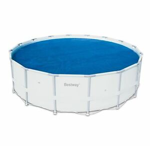 Bestway-14-039-Round-Floating-Above-Ground-Swimming-Pool-Solar-Heat-Cover-58252E