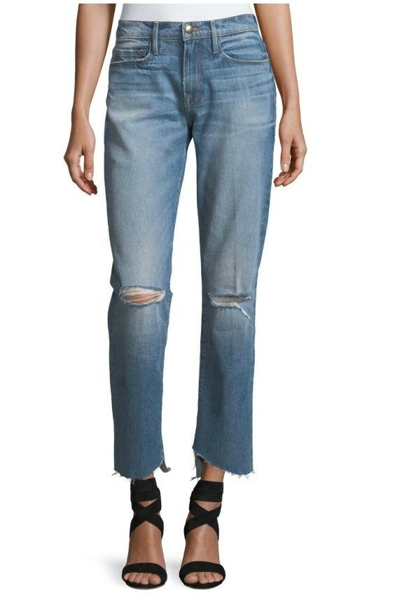Frame Womens Le high Straight Reverse Cascade Hem Jeans Size 29 NEW 0865