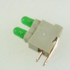 New Listingfourty 3mm Dual Green Led Pcb Mount Indicators