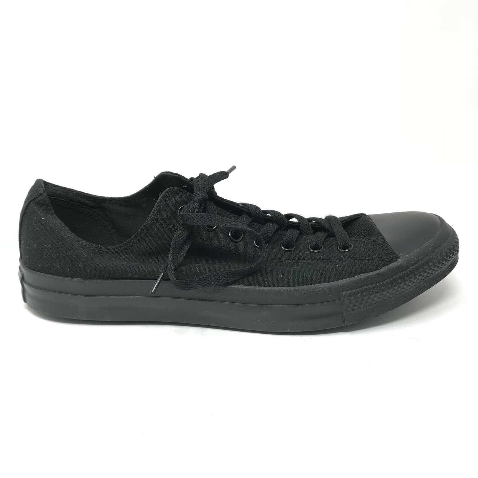 Converse Mens Size 13 Chuck Taylor All Star Low Top Sneakers Black On Black