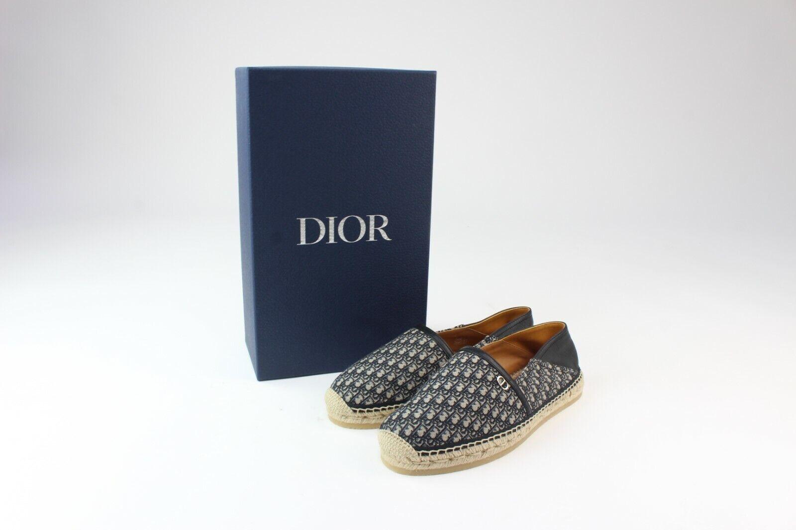 Dior Blue and Beige Oblique Paradise Espadrille EU42 UK8 BNWB