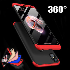 brand new ca6c7 e627c Details about Shockproof Hybrid Armor 360° Protective Case Cover For Xiaomi  Redmi Note 6 5 Pro