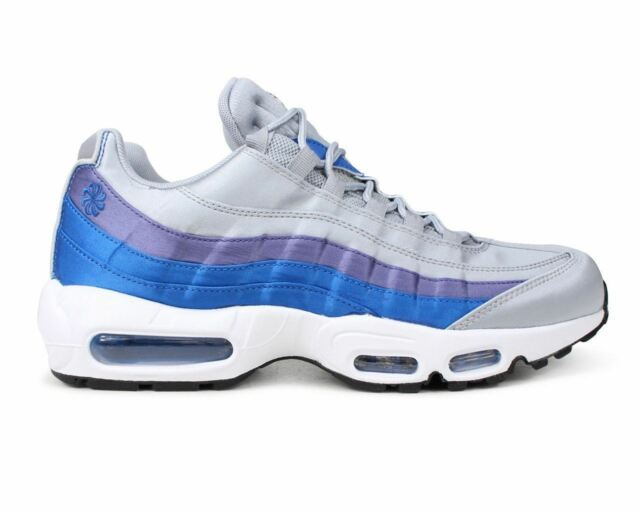 best authentic 63e3e b8c62 Mens Nike Air Max 95 SE AJ2018 001 Gym Running Shoes Trainers Wolf Grey Blue