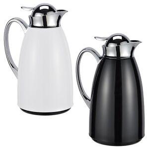 isolierkanne isolier kanne iso kaffeekanne kaffee teekanne tee 1 liter 2 farben ebay. Black Bedroom Furniture Sets. Home Design Ideas