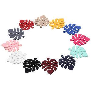 20PCS-Korean-Style-Faux-Suede-Charm-Pendants-Leaf-Shape-For-DIY-Jewelry-Making