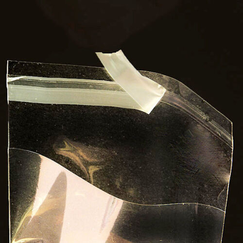 """7 3//16/"""" x 7 1//16/"""" CRYSTAL CLEAR RECLOSABLE CELLO BAGS 100 Qty"""