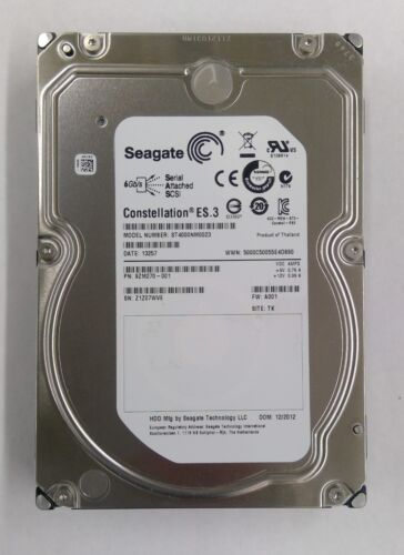 "Seagate Constellation ES.3 ST4000NM0023 4TB 3.5/"" HDD Hard Drive SAS 6Gb//s 128MB"