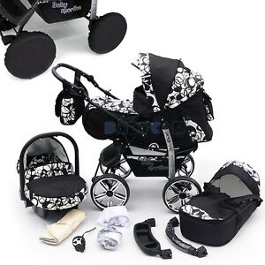 NEW-Baby-Pram-Free-Car-seat-Carrycot-Pushchair-Stroller-buggy-57-COLOURS