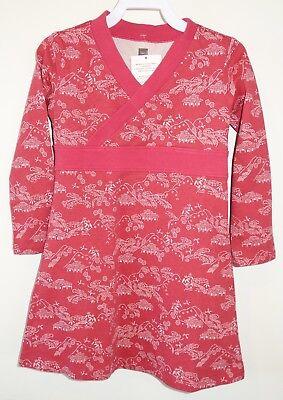 NWT Tea Collection Oatmeal Heather Taiyo Wrap Neck Dress ~  Girl/'s Size 3