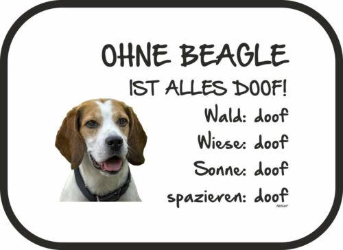 Auto Sonnenschutz Hund Blende Ohne Beagle ist alles doof! 2er Set