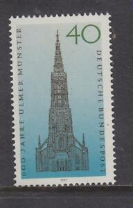 Germania-OVEST-Gomma-integra-non-linguellato-TIMBRO-Deutsche-Bundespost-1977-ULM-Cattedrale-SG-1827