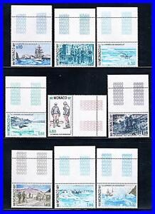 MONACO-1977-SAILORS-MARGINS-SC-1073-81-CV-11-35-MNH-POLAR-SHIPS-ANIMALS-K-DEC