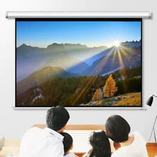 100 Diagonal Hd 43 Projector Screen Pull Down Home Conference Projection White
