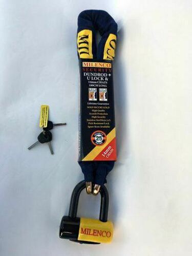 U Lock 1.8M x 14mm Chain Motorcycle Motorbike Scooter Security Milenco Dundrod