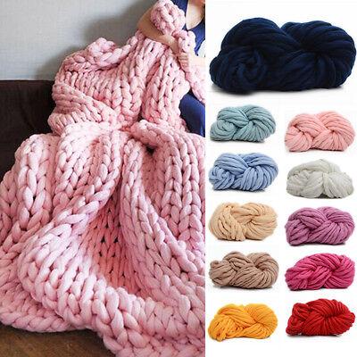 DIY Bulky Arm Knitting Wool Chunky Wool Yarn Super Soft Wool Roving Crocheting