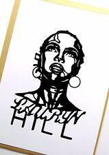 LAURYN HILL Original Pop Art,Music Celebritie 4X 6 inches Vinyl Sticker Portrait