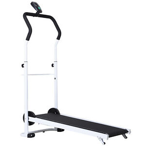 Home-Gym-Manual-Treadmill-Walking-Fitness-Equipment-Foldable-w-Wheels