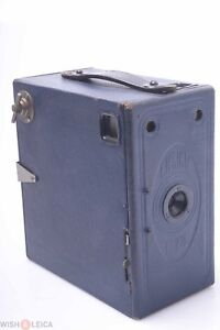 Ensign E29 Large Blue Vintage Box Camera