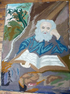d4638f8d0569 Image is loading ANTIQUE-The-HERMIT-Tapestry-Salomon-KONINCK-Der-EREMIT-