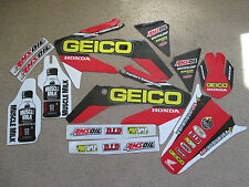FACTORY GEICO TEAM GRAPHICS HONDA CRF250R CRF250 2004 2005 2006 2007 2008 2009