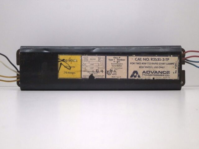 Advance R-2S40-1-TP Rapid Start 120V Ballast for F40T12 Lamps 2