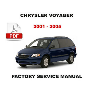 chrysler voyager 2001 2005 2 5 l 2 8 l turbo diesel service rh ebay com chrysler voyager 2001 service manual chrysler grand voyager 2001 manual