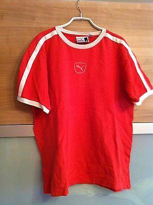 Puma Shirt Tshirt Herren Rot M 48 50 Alt 70er 80er Baumwolle Wie Neu Retro