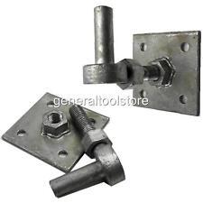 1 REGOLABILE galvanisesd 19 mm Cancello Gancio Perno 100 mm Piastra Strap Band CERNIERE 112F