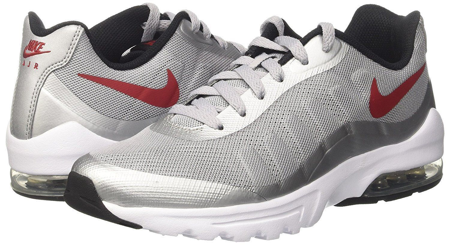 Men's Nike Air Max Invigor Wolf Grey/Red/Black/White Sizes 8-12 NIB 749680-004