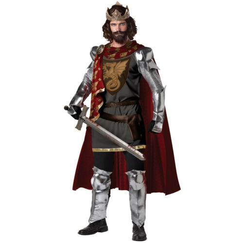 King Arthur Adult Costume Medieval Knight Renaissance Musketeer Deluxe Mens