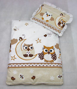 Set Bezug für Kinderwagen Garnitur Bettwäsche Decke Füllung, Kissen 4 tlg