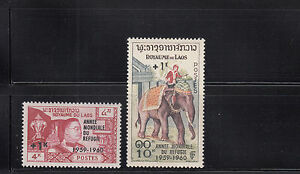 Laos-1960-Refugee-Year-Sc-B4-B5-complete-mint-never-hinged