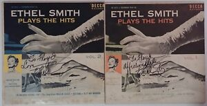 Ethel-Smith-Autograph-on-2-Set-Records-Signed