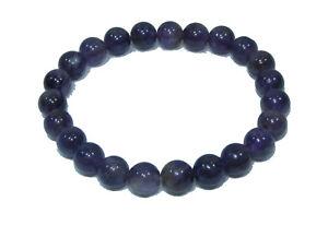 Bracelet de perles AMETHYSTE Pierres naturelles 8 mm 18cm ou sur mesure