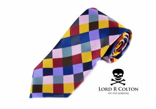 Lord R Colton Masterworks Tie Dark Prism Uprising Silk Necktie $195 New