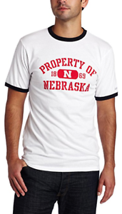 14ae67fc3 NCAA Nebraska Cornhuskers Ringer T-Shirt Men FREE SHIPPING on orders ...