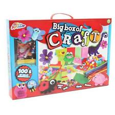 Grafix Big Box of Craft 111 Pack Tissue Paper Stickers Glues Cards Pompoms Kids