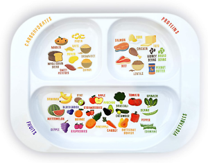 Kid's Healthy Learning Plate | Divided Portion Control for Toddlers & Children |