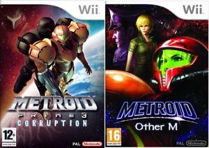metroid prime corruption metroid other m wii pal ebay rh ebay co uk Ridley Metroid Other M Metroid Prime 3