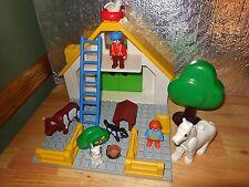VINTAGE 1999 PLAYMOBIL123 DOLL HOUSE 6804 DOLLHOUSE FARM BARN ANIMAL FIGURE LOT