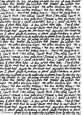 Carta di riso per decoupage, foglio di album, Craft CARTA MANO SCRITTURA BIANCO