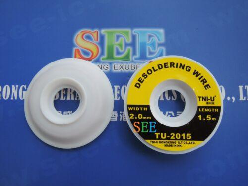 1 Piece TNI-U TU-2015 5ft 2.0mm Desoldering Wire Braid Solder Remover Wick