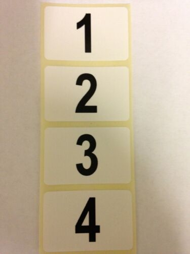 400 Sequential Number Labels, Self Adhesive, Numbers 1-400