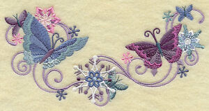 SPIDER WEB OF MYSTERY  SET OF 2 BATH HAND TOWELS EMBROIDERED BY LAURA