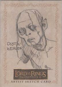 Lord of the Rings Masterpieces II  Dustin Weaver 034Gollum034 Sketch Card - <span itemprop=availableAtOrFrom>Wirral, Merseyside, United Kingdom</span> - Returns accepted Most purchases from business sellers are protected by the Consumer Contract Regulations 2013 which give you the right to cancel the purchase within 14 days aft - Wirral, Merseyside, United Kingdom