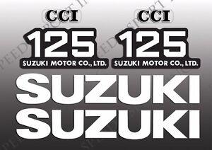 SUZUKI 1973 - 1979 TS125 1973 - 1977 TC125 TANK & SIDE COVER DECALS SET TS 125