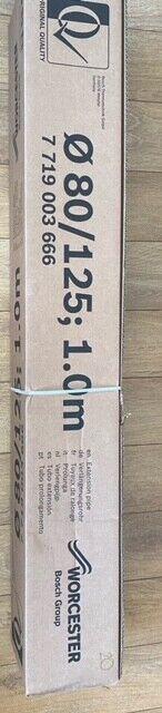 Bosch Worcester 7719003666 80/125mm 1 Meter Flue Extension - White